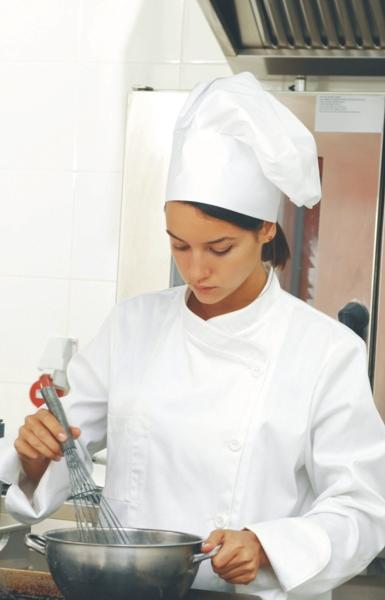Bonetă Chef rotundă – Alb