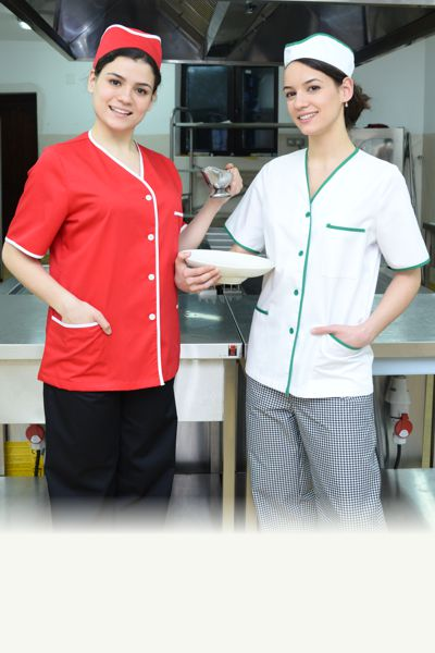 Set bluza de lucru si coif reglabil pentru femei